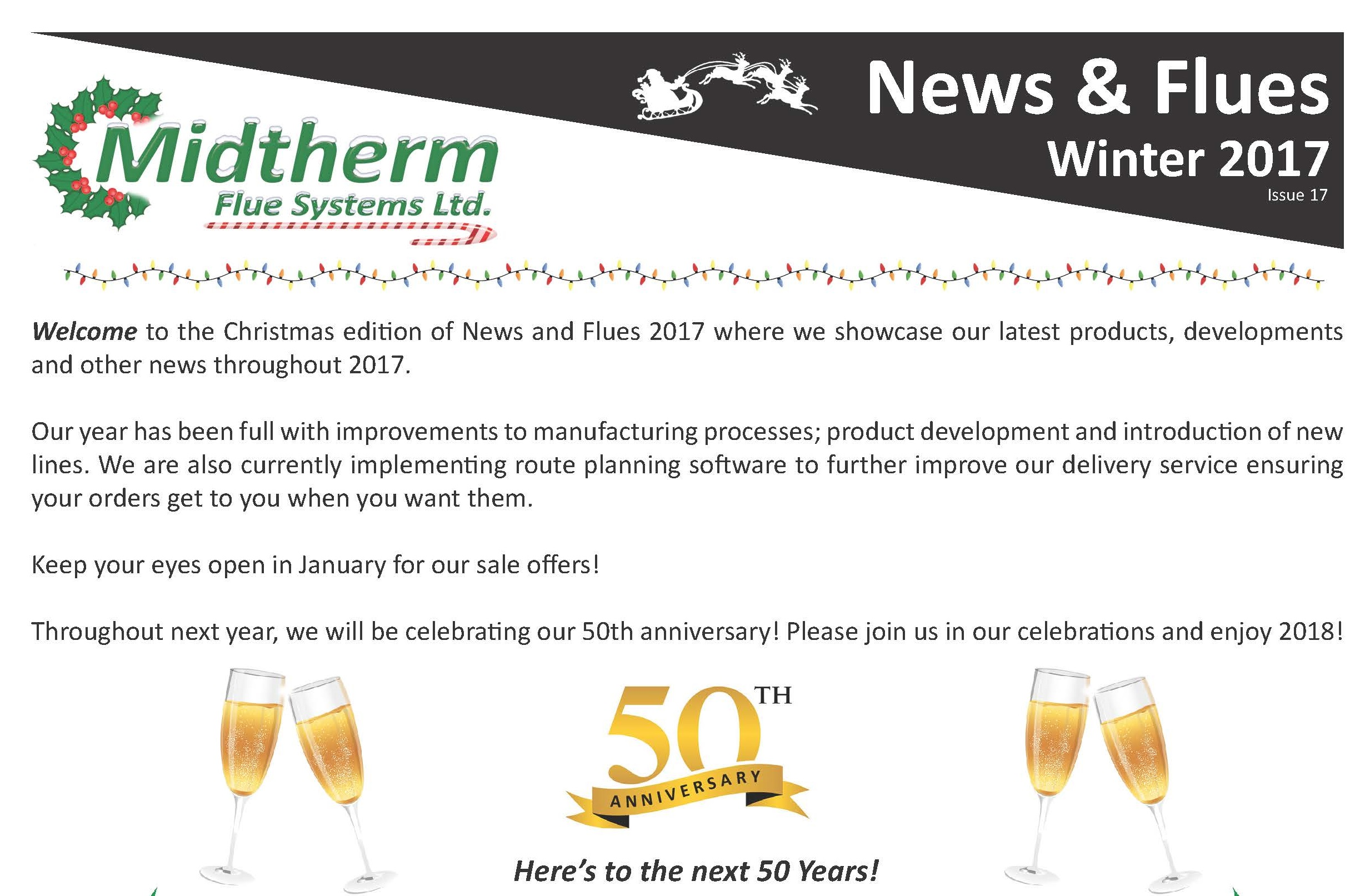 Midtherm Flue Systems Newsletter Christmas 2017
